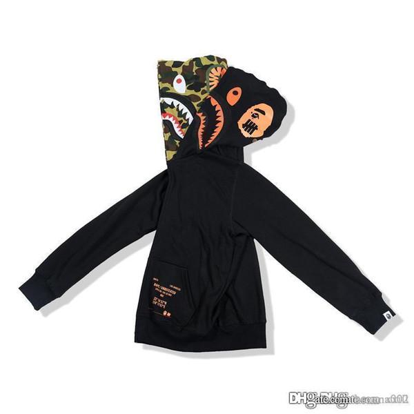 19SS popolare giapponese logo falso due cappelli camouflage stampa start zipper cappotto con cappuccio da uomo e donne stile tendenza allo stesso modo