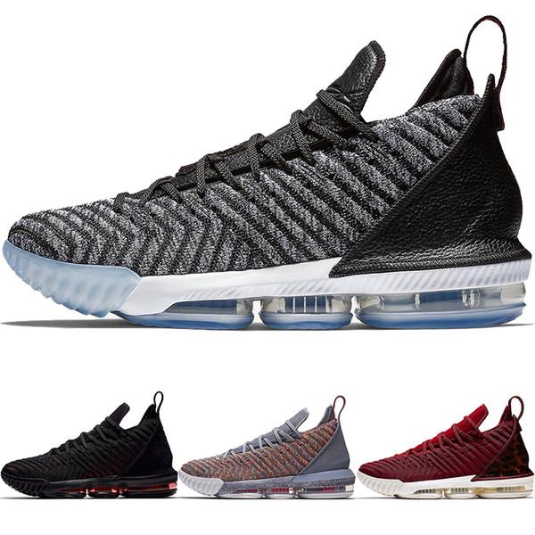 High Quality THRU LMTD XVI BRED 330 Oreo Men Basketball Shoes Ron 16 EP BBZ Sports Shoes 16s King 1 Leopard Designer Sneakers