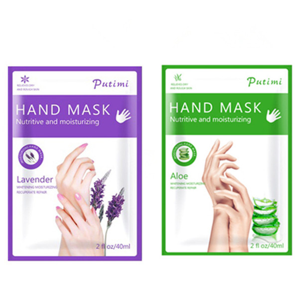 best selling Aloe Lavender Extract Moisturizing Hand Mask Super Smoothing Spa Hand Mask Gloves Exfoliating Skin Spa Gloves 6pairs
