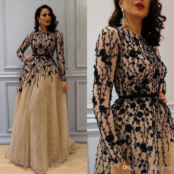 2018 Robes de soirée robes de soirée A-ligne de robe de bal avec de la dentelle appliquée Robes de cocktail Occasion spéciale