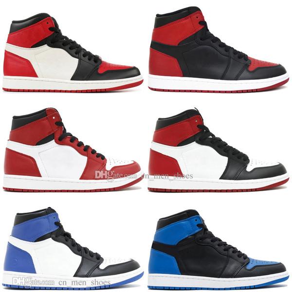 Kutu ile Sıcak Yeni 1 OG Yasaklı Bred Toe Örümcek-Adam UNC 1 s üst 3 Erkek Basketbol Ayakkabıları Ev Için Kraliyet Kraliyet Mavi Erkekler Spor Tasarımcısı Sneakers