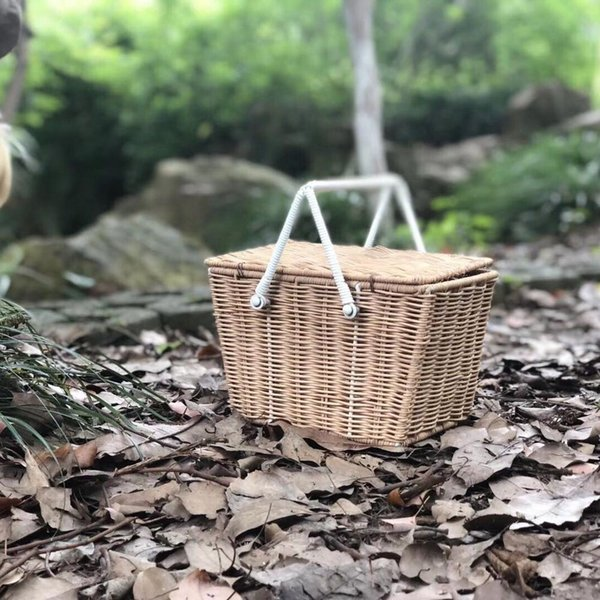 rattan basket small from storage box.htm 2019 ins style rattan woven portable picnic basket multifunctional  2019 ins style rattan woven portable