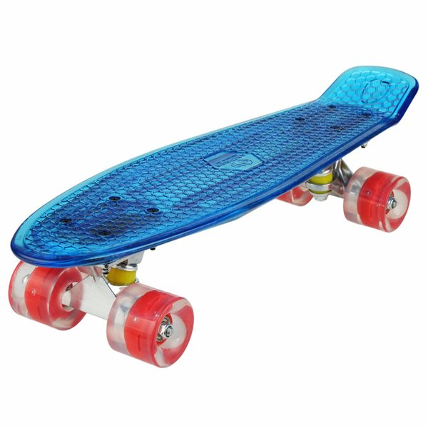 Ancheer 22 inch Cruiser Crystal Clear Luminous Skateboard LED Light Up Wheels Outdoor Complete Flash Deck Board