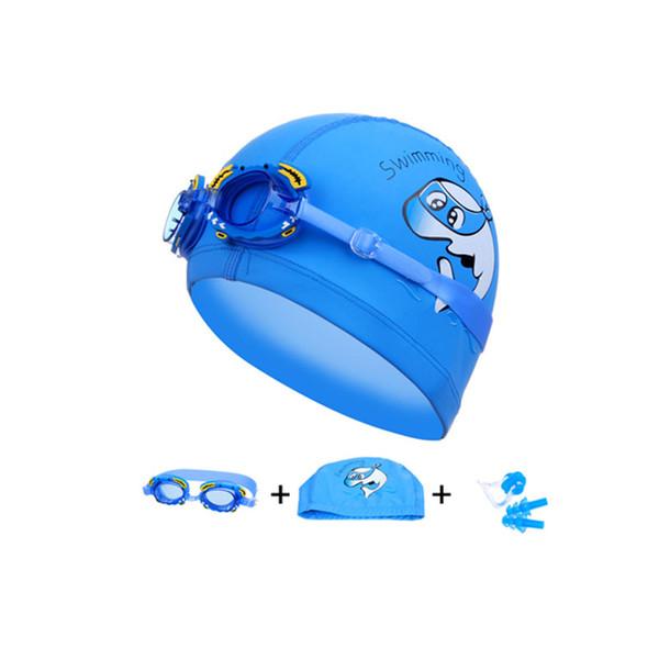 Lunettes de natation pour enfants Lunettes de natation pour enfants Bonnets de natation Bouchon d'oreille professionnel Lunettes de crabe de poisson arène Lunettes de natation étanches