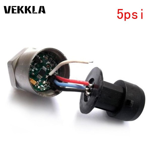 VEKKLA 1PC Pressure Transducer Sender Sensor Transmitter Stainless Steel 0-4.5V For Oil Fuel Air Water With Cable