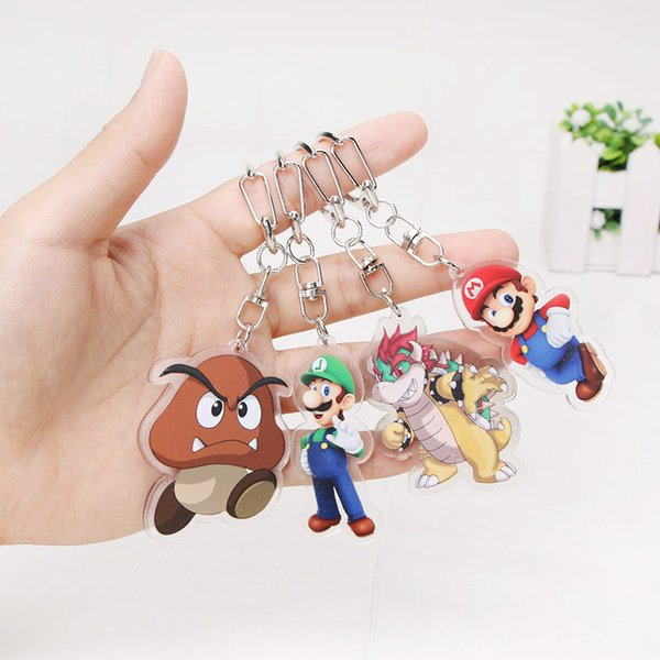 5 5cm Charm Super Mario Keychain Super Mario Odyssey Bowser Luigi Koopa Yoshi Maker Figure Pendant Party Supplies Gifts Personalized Wedding Party