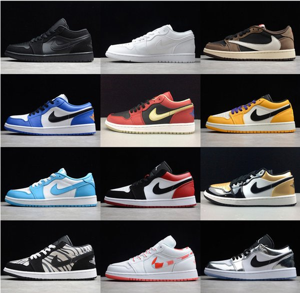 best selling 2020 Cair 1 JORDAN 1 Arrival Off OG Top 1 Men Black Gold 1s Sneakers High Quality NUC Outdoor Trainers white running Shoes Basketball Shoes