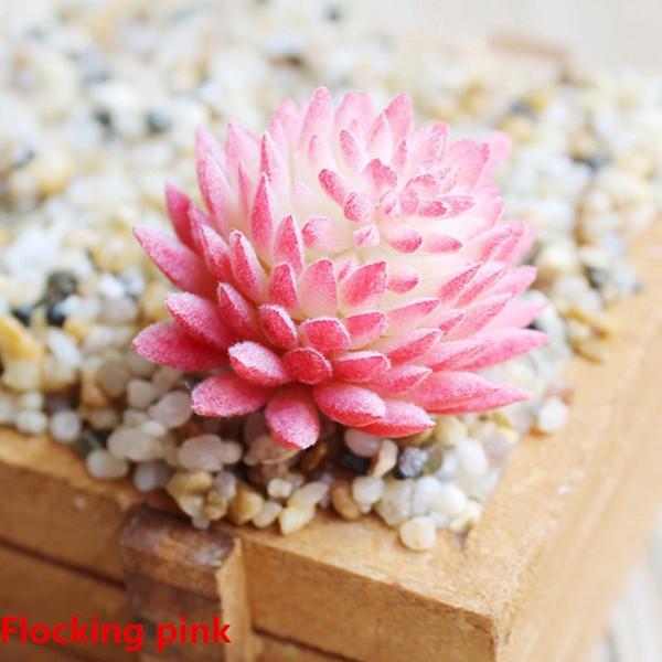 Succulent PVC Bonsai Artificial Plant Mini Chic Floral Realistic Home Decor Garden