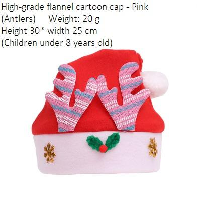 Child Flannel Antlers Pink