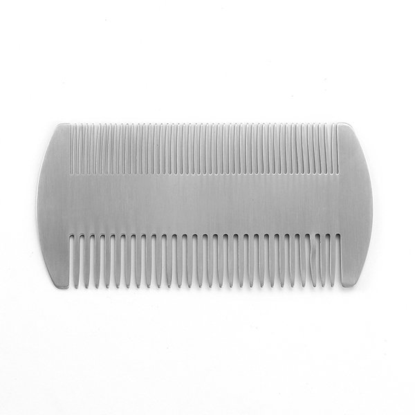 2019 Best Multifunction Silver/Black Stainless Steel Double-sided Tooth Beard Comb