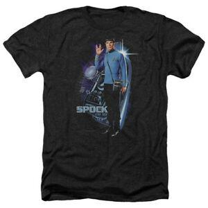 Star Trek GALACTIC SPOFashion Picture Licenciado Adulto Heather T Shirt Todos Os Tamanhos