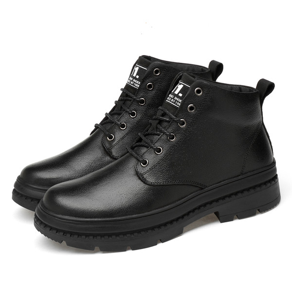 2019 Mens Martens Leather Boots New Cool Footwear For Men Comfortable Boy Martins Boots Wearable Fashion Men's Shoes