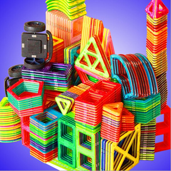 Construcción de edificios 1 UNIDS tamaño estándar Bloques de Construcción Magnéticos 24 tipos diferentes para Niños Juguetes Educativos de Plástico Bloques DIY