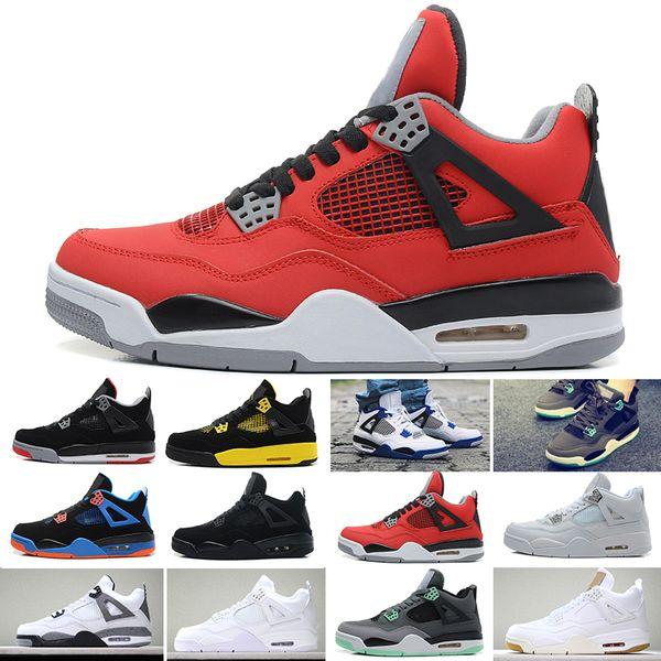 de moda chico nike air jordan 4 zapatos todos los negros