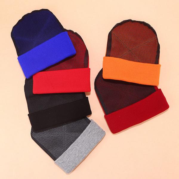 les hommes et les femmes chapeau en tricot street dance garçon, plus usure mode net tête rue automne hiver chapeau de hip hop chaud tuques skullies