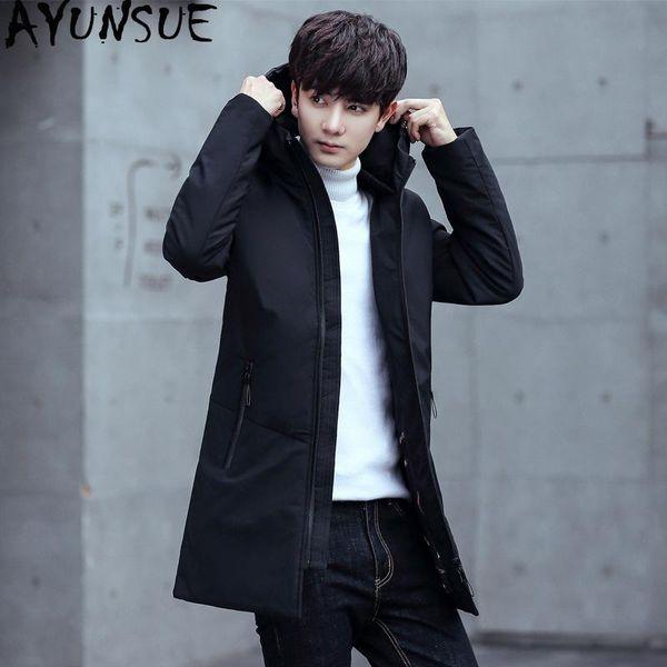 AYUNSUE Canard coréenne Down Jacket Men hiver pour hommes CAOT Taille Plus Manteau à capuchon étudiants Mode Parka Abrigo Hombre KJ571