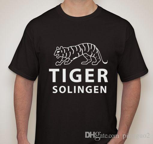 TIGER Solingen WW2 WWII German Dagger Sword Knife Blade Maker Mark Logo T Shirt Cotton Cool Design 3D Tee Shirts T-Shirt
