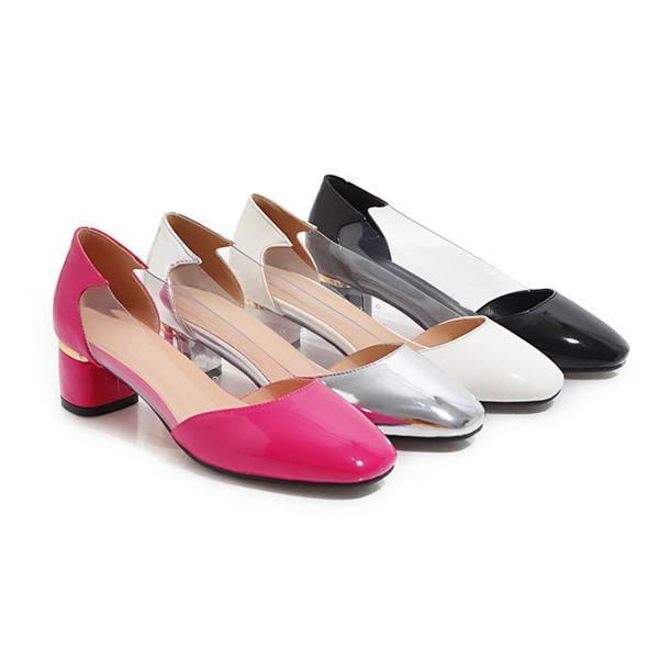 Sıcak Satış-Bahar Flats Kadın Ayakkabı Şeffaf Eğlence Balerin Ayakkabı Kapalı Toe Sığ Rahat Ayakkabılar Üzerinde Kayma