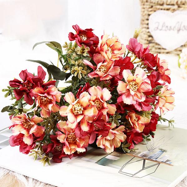 5 cm 18 testa di fiore Mangalo fiori di ciliegio Autunno falso margherita fiore di seta fiore artificiale per la cerimonia nuziale fai da te decorazione festa arredamento della camera di casa