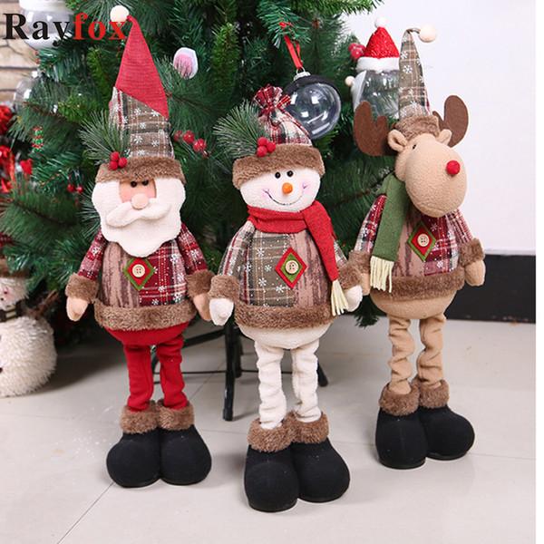 Joyeux Noël Décorations de Noël cadeau du Père Noël / Bonhomme de neige Arbre Pendentifs jouets Décoration pour la maison Cristmas Décoration