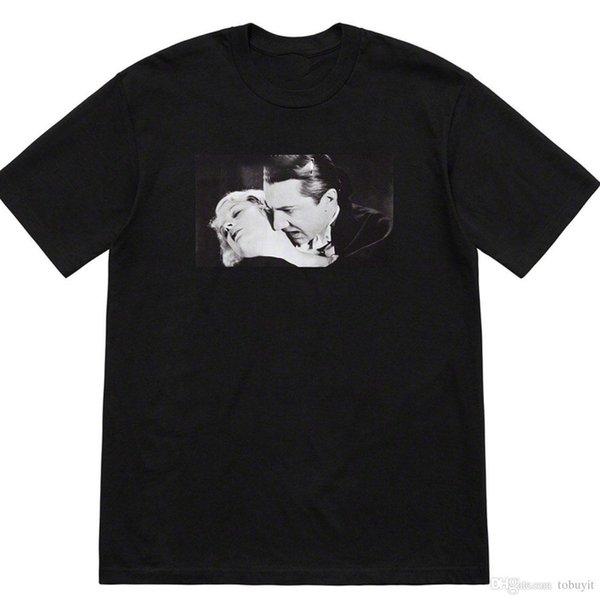 Camisetas de hombre supS + white + reme luxury ss marca versión completa impresión marea camisa de la marca camiseta sudadera ropa alta calidad caliente
