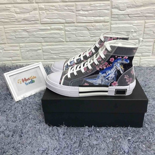 B23 sneakers with high top 19SS floral technology Caual luxury designer shoes for men and women women's fashion casual shoes