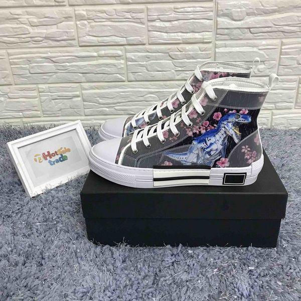 B23 Turnschuhe mit hohen Top-19SS Blumen Technologie Caual Luxus-Designer-Schuhe für Männer und Frauen Damenmode Freizeitschuhe