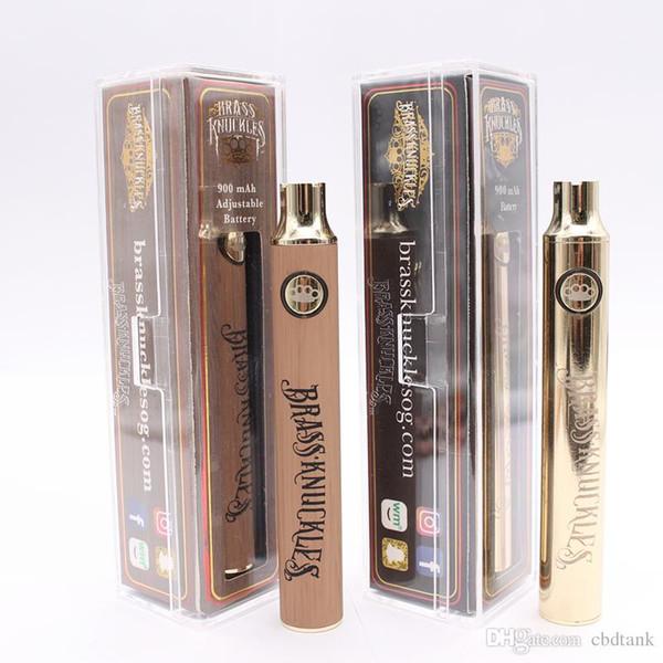 Brass Knuckles rechargeable 510 Batterie USB Kit Vape Batteries Pen pour 510 fil cookies TKO Dank cartouche Vaporizer