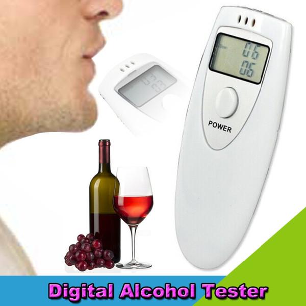 top popular PFT-641 Digital Breath Alcohol Tester Meter Detector Drunkometer Breathalyzer Wine Checker Finder Mini Monitor for Driver Police 2021