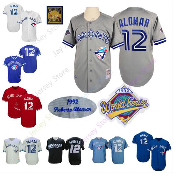 new arrivals 29fbb 9988d 2019 Roberto Alomar Jersey 12 Blue Jays 1992 WS World Series Jerseys  Toronto Baseball Home Away Cool Base Cooperstown From Davidjersey, $16.26 |  ...