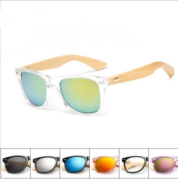 Gafas de sol de diseño Gafas de sol polarizadas de madera Gafas de sol de bambú Piernas Fahion Gafas de montar al aire libre Unisex Retro Rana Gafas sin lentes LT1177