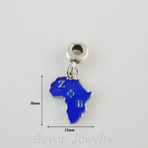 SORORITY GREEK ZETA PHI BETA ZPB enamel charm africa charm