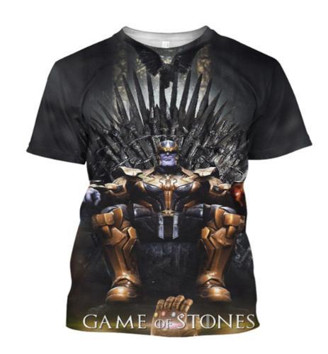 2019 Fashion Men T Shirt T Shirt Marvel Avengers 4 Endgame Game of Thanos T-Shirt Unisex Short Sleeve T Shirt Women Tops Tee Pullover K1124