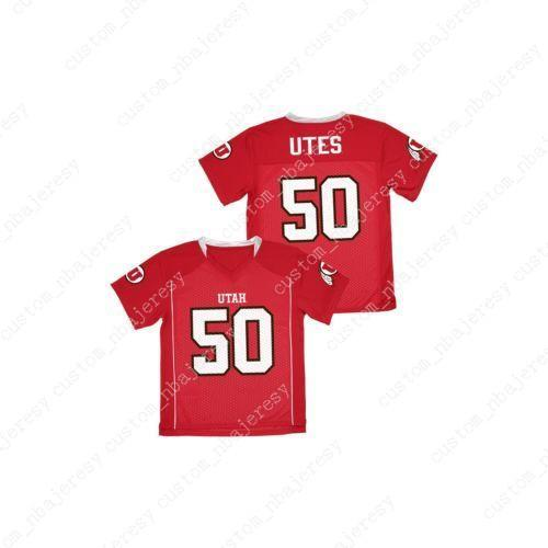 Cheap custom NCAA Utah Utes College Football Crew Neck Jersey Customized Any name number Stitched Jersey XS-5XL