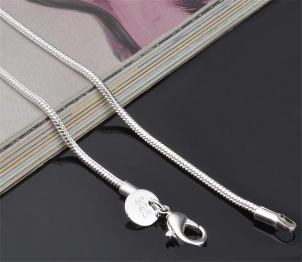 2MM 925 Sterling Silver Snake Chain Necklace 16 18 20 22 24 inch Chains Fashion Jewelry High Quality Factory Price WCW038