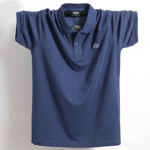 Nouveau 2018 Marque Polo Shirt Hommes% 100 Coton Mode Été À manches courtes Chemise Décontractée Polo Shirt Hommes Augmentation De L'engrais 5xl 6xl Q190426