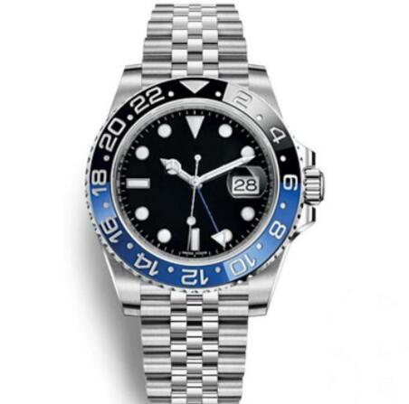 Venta caliente Reloj de pulsera para hombre Azul Negro Cerámica Bisel Reloj de acero inoxidable 116710 Movimiento automático Reloj limitado Nuevo Jubileo Ma