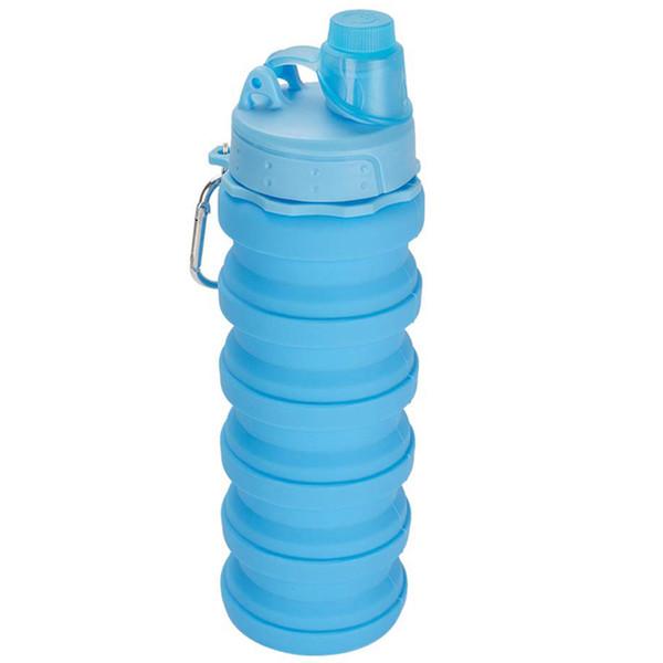 Бутылка для воды на 500 мл Силиконовая складная бутылка для воды для путешествий Легкие бутылки, предназначенные для путешествий и отдыха с Ca