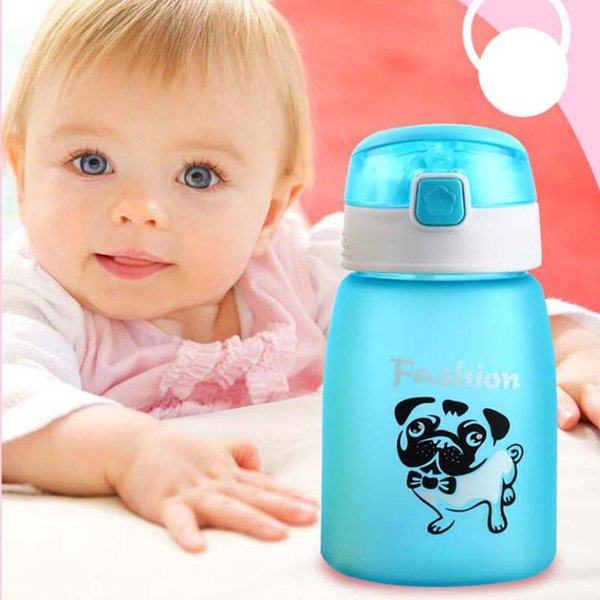 1Pcs 430ml Baby Bottle Kids Children Learn Feeding Drinking Water Straw Bottle mamadeira Sippy Training Cup Baby Feeding Cup