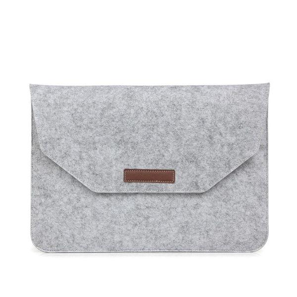 Notebook-Hülle Tasche Filz Smart Handy Schutzhülle Männer und Frauen Portable Storage Handtaschen Grau Schwarz 17ok C1