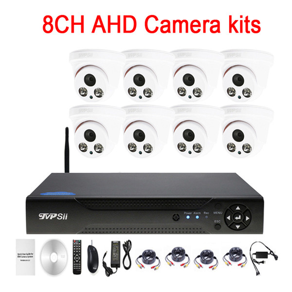 Two Array infrared Led 5mp/4mp/2mp/1mp Indoor 8CH 8 Channel WIFI AHD CCTV DVR Surveillance Security Camera Kits