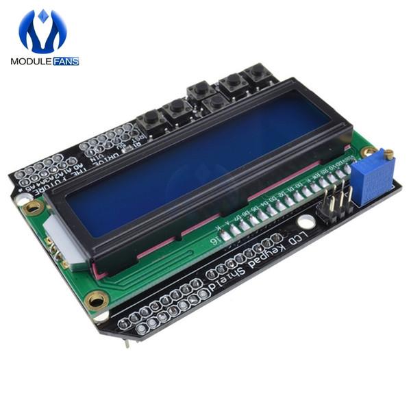 Compre Teclado Shield Lcd1602 Para Arduino 1602 Pantalla Lcd Atmega328 Atmega2560 Para Raspberry Pi Uno R3 Módulo De Luz Negra De Pantalla Azul A