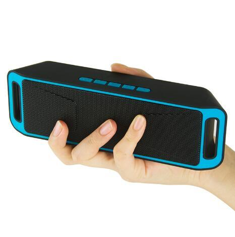 SC208 Stereo Wireless Bluetooth Speaker Outdoor Portable Double Horn Speakers Support TF Card USB Disk FM Radio Column