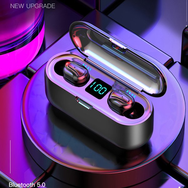 top popular HBQ-Q32-1 Bluetooth Earphones 5.0 TWS Headphone Waterproof HD Wireless Earbuds Noise Cancelling Gaming Headset With LED Power Display DHL 2020