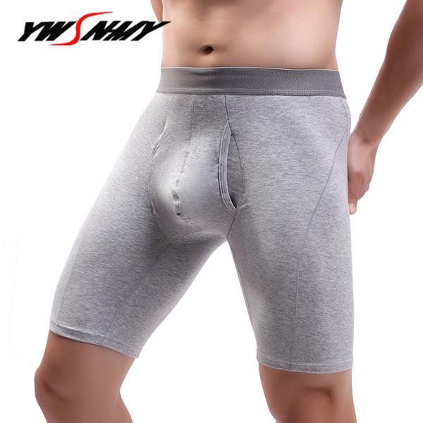 Europe size Mens Underwear Boxers Long Man 95% Cotton Breathable Boxer Homme Slip Panties Male Long Leg Underpants Hombre Boxers