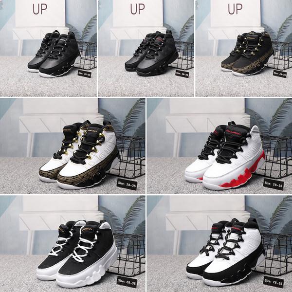 Nike Air Jordan 9 Şık Erkek Kız Çocuk Ayakkabı Tasarımcısı 9 9 s Yeni Moda Atletik Basketbol Ayakkabıları Sneakers Bebek Çocuk Erkek Kızlar Için