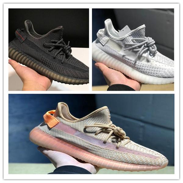2019 Yeni 350 Erkekler Kadınlar Ayakkabı Koşu Statik Siyah Bred Krem Beyaz Susam Kanye West V2 Spor Spor ayakkabılaryeezy350 Z4c