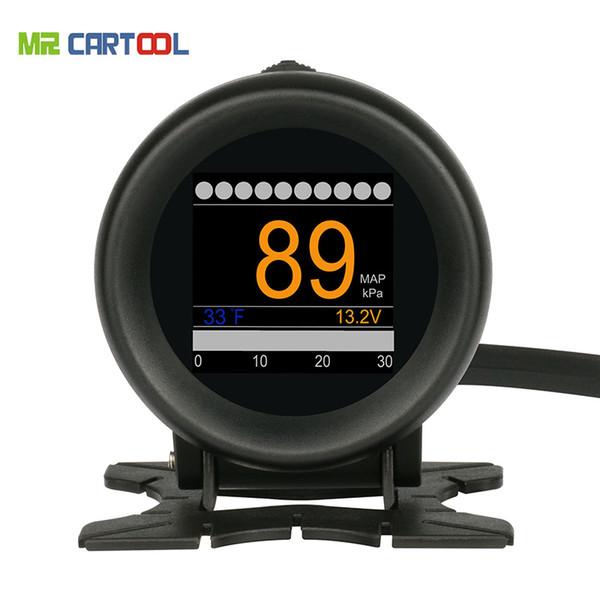 Auto OBD M3 Auto multifunktions Digitale Turbo Ladedruckmesser Alarm Geschwindigkeit Öl Wassertemperaturanzeige 12 V OBDII Codeleser