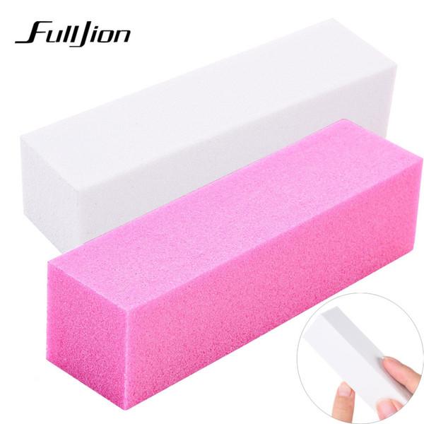 Fulljion 1 pz rosa forma file buffer di chiodi per gel UV bianco nail file buffer block polacco manicure pedicure levigatura nail art strumento