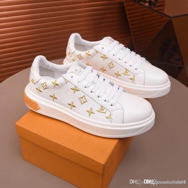 chaussures chaussures de sport Luxembourg Mode hommes vuiton louie de luxe semelle en caoutchouc souple pour les chaussures de formateur monogramme hommes fleurs designers occasionnels chaussures